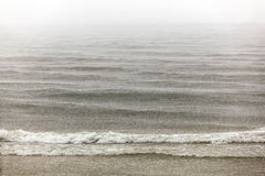 Heavy rain over the pacific ocean Royalty Free Stock Photos
