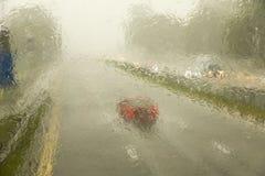 Heavy monsoon rain Singapore Royalty Free Stock Images