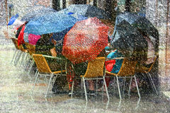 Heavy Rain and Snow Stock Image