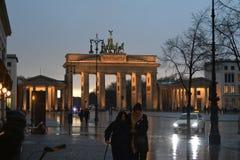 HEAVY RAIN spadek W NIEMIECKIM kapitale BERLING obrazy royalty free