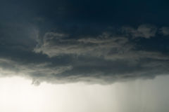 Heavy rain storm clouds, thunderstorm dramatic sky Stock Images