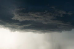 Heavy rain storm clouds, thunderstorm dramatic sky Royalty Free Stock Photo
