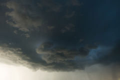 Heavy rain storm clouds, thunderstorm dramatic sky Stock Image