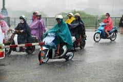 Heavy rain after storm Royalty Free Stock Photo