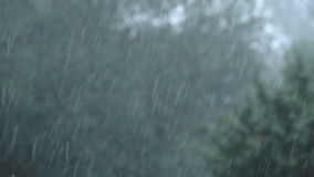 Heavy Rain on a stormy day stock footage