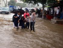 Heavy rainfall in Bhopal. Heavy rains lashed in Bhopal yesterday. The city recorded 116 mm rainfall during 8.30 AM to 5.30 nAs per weather forecast, some parts stock images