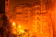 Heavy Rainfall At Night. The infamous heavy rainfall started long after midnight in Marmara region of the country Turkey and caused multiple flash floods around Royalty Free Stock Photos