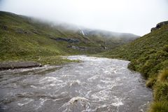 Rivers in flood in Lesotho. Royalty Free Stock Photos