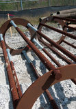 Heavy Rebar Stock Image