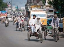 Heavy ricksha work, India Stock Images
