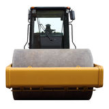 Heavy road roller. Royalty Free Stock Images