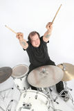 Heavy rock drummer Stock Photos