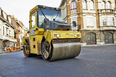 Heavy roller compactor Stock Photography