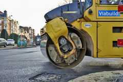 Heavy roller compactor Royalty Free Stock Photo