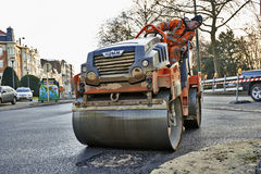 Heavy roller compactor Royalty Free Stock Images