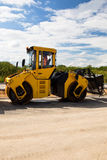 Heavy roller - road repairing Royalty Free Stock Image
