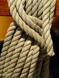Heavy Rope. Rigging on ship royalty free stock image