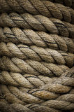Heavy Rope. To tie up a large tug boat Stock Photos