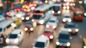 Heavy rush hour traffic. Defocused heavy rush hour traffic stock video footage