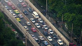 Heavy Rush Hour Traffic In Tropical Climate stock video
