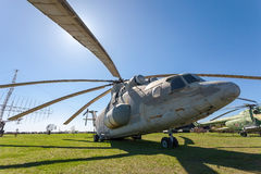 The heavy Russian military transport helicopter Mi-26  Royalty Free Stock Images