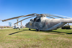 The heavy Russian military transport helicopter Mi-26 Stock Images