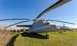 The heavy Russian military transport helicopter Mi-6 Stock Photo