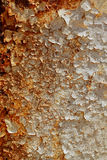 Heavy rusted peeled metal background texture. Stock Photos