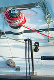 Heavy Sailing Winch and Lines Royalty Free Stock Photography