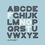 Heavy sans serif typeface design. Vector alphabet, letters, font. Typography royalty free illustration