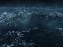 Heavy sea. Ocean scape, dark and heavy seas in the north Atlanticc Stock Photos