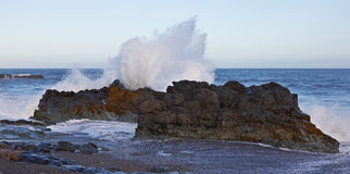 Heavy sea in the East Fjords, Iceland Royalty Free Stock Photo
