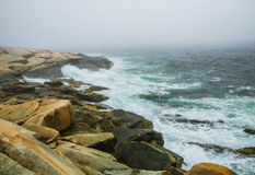 Heavy sea fog Royalty Free Stock Images