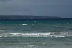 Heavy sea stock photography