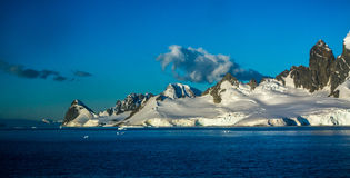 Heavy Seas in the Antarctic. Big waves along the Antarctic Peninsula Royalty Free Stock Images