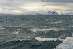 Heavy Seas in a High Aarctic Fjord Stock Photo