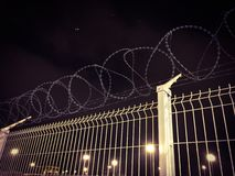 Heavy secured fence Royalty Free Stock Photos