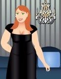 Heavy Set Woman vector illustration