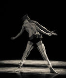 The heavy shadow-Burning blood-Modern dance Stock Image