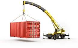Heavy shipping container Stock Photography