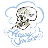 Heavy smoker Stock Image