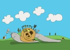 Heavy snails Royalty Free Stock Photography
