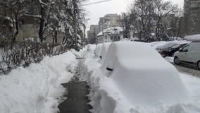Heavy snow Stock Image