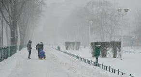 Heavy snow in Bucharest
