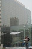 Heavy snow in bucharest Stock Photo