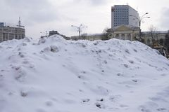 Heavy snow in Bucharest Stock Photography