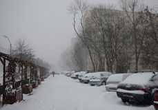 Heavy snow in Bucharest Stock Photos