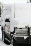 Heavy snow and car Stock Image