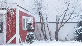 Heavy snow fall stock footage