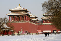 Heavy Snow Hits Beijing Royalty Free Stock Images